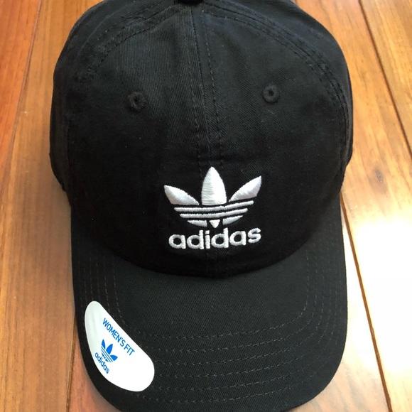 cfe39ac83cd NWT adidas Trefoil logo baseball cap black hat